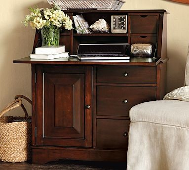 Graham Secretary With Smart Technology Tm Mahogany Stain