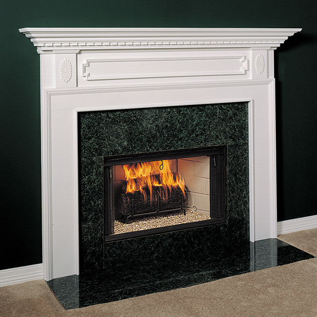 Harrisburg Wood Fireplace Mantel Traditional Indoor