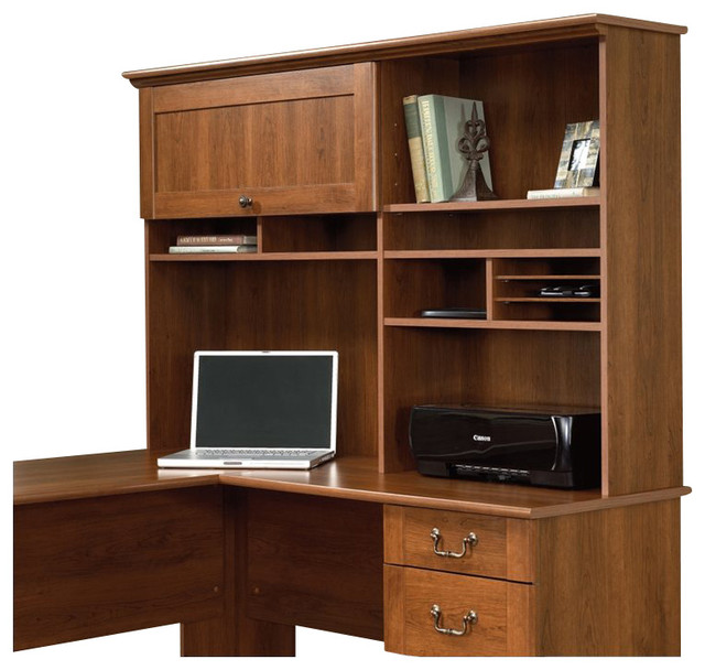 Sauder Select Hutch in Shaker Cherry - Transitional - Furniture - by Cymax
