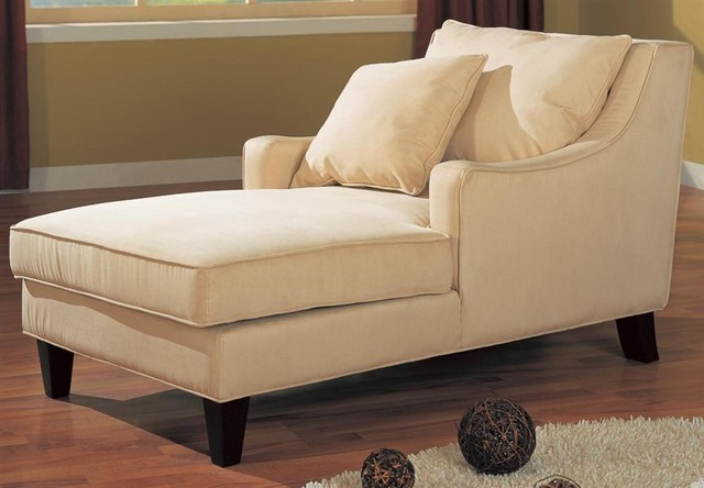 Accent seating microfiber chaise lounge transitional for Accent chaise lounge