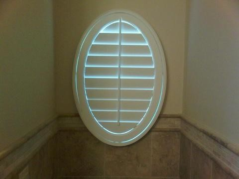 Oval Window Covering Traditional Bathroom By Blinds Com