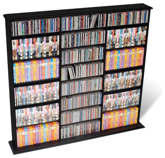 Prepac triple width cd dvd wall storage media tower transitional media racks and towers by - Cd storage rack tower ...