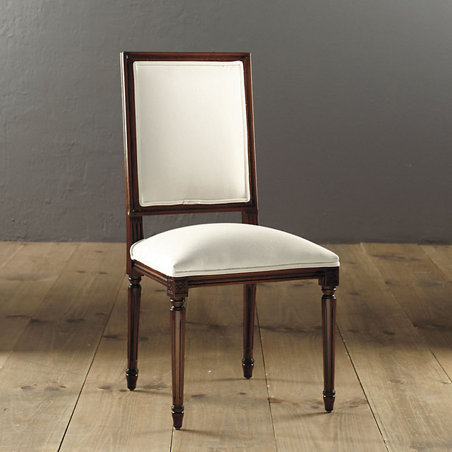Square Back Louis Xvi Side Chair Traditional Dining