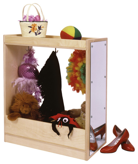 steffywood 2 in 1 wide kids dress up storage cabinet 36 high with mirror contemporary kids. Black Bedroom Furniture Sets. Home Design Ideas