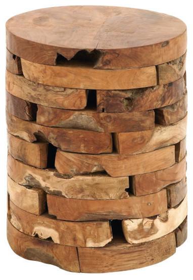 Rustic Round Teak Brick Stool Rustic Accent And Garden  : rustic accent and garden stools from www.houzz.com size 382 x 554 jpeg 71kB