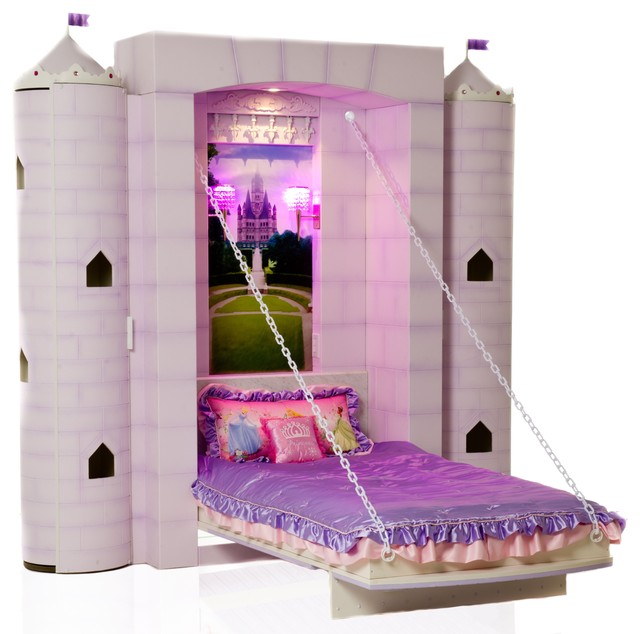 Princess castle bed traditional kids beds vancouver for Beds vancouver