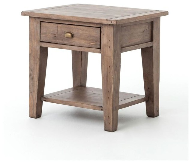 Four Hands Irish Coast Table End Table Transitional Side Tables And End Tables
