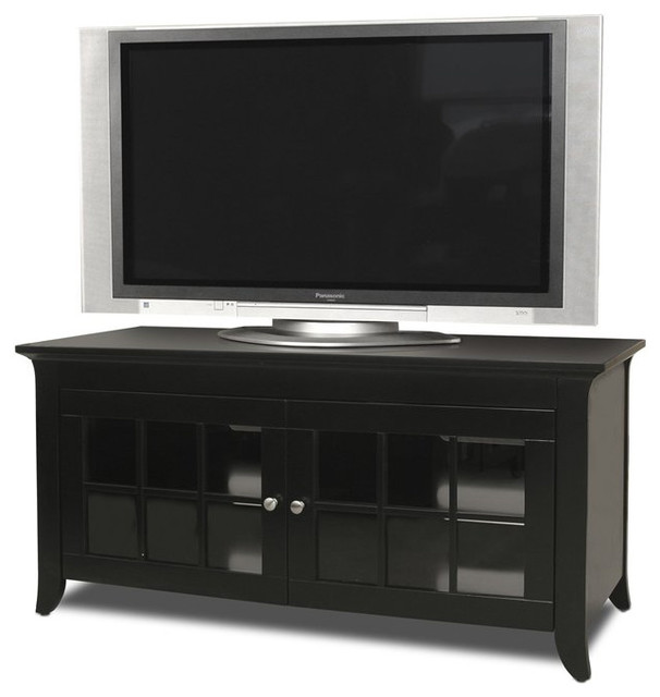 Tech-Craft Veneto 48 Inch LCD/Plasma TV Stand in Black Finish - Transitional - Entertainment ...