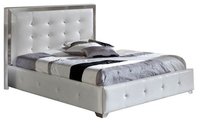 Coco Modern Upholstered Storage Bed White King Size