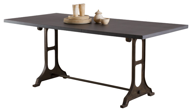 Gwalior Dining Table Zinc Finish Industrial Dining Tables By C G Sparks