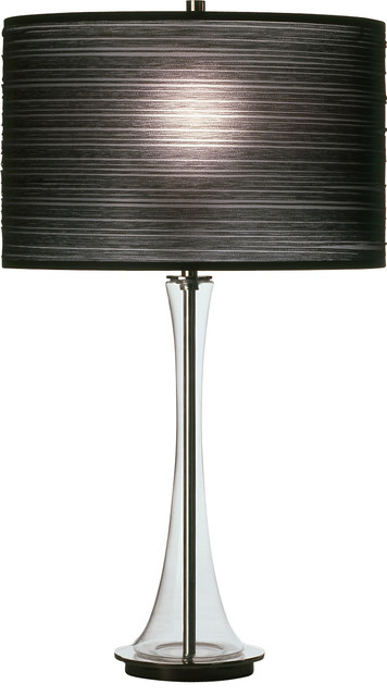 Robert Abbey Kate Table Lamp Clear Glass Black Contemporary Table Lamps