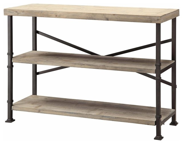 Corban Wood And Metal Console Rustic Living Room Furniture By Autumn El