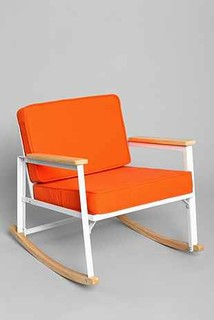 Assembly Home Metal Rocking Chair Orange Contemporary Rocking Chairs By Urban Outfitters
