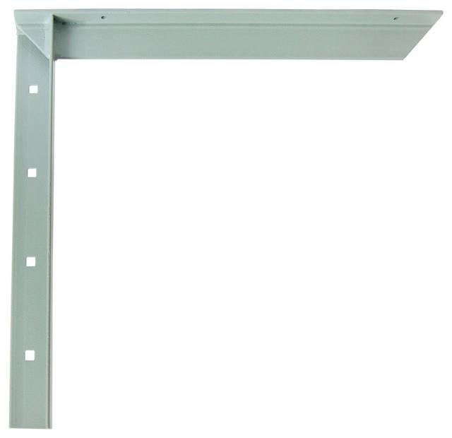 Bracket - Hidden Countertop Support, Gray, 12 - Modern - Brackets ...