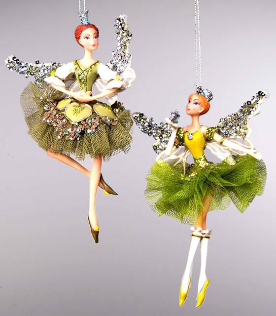 Katherine s collection magnolia fairy ornaments for Modern holiday decorations for home