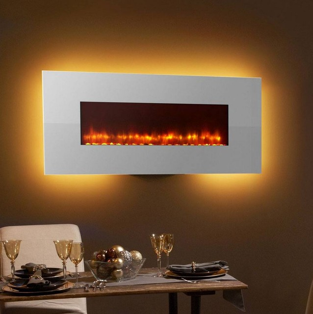 Simplifire 58 Wall Mount Electric Fireplace Modern Dining Room Minneapolis By Fireside