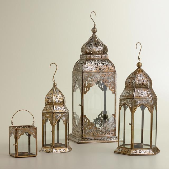 lucia silver leaf lanterns mediterranean candleholders. Black Bedroom Furniture Sets. Home Design Ideas