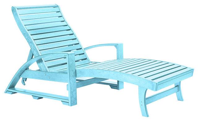 St tropez chaise lounge aqua contemporary sun for Aqua chaise lounge cushions