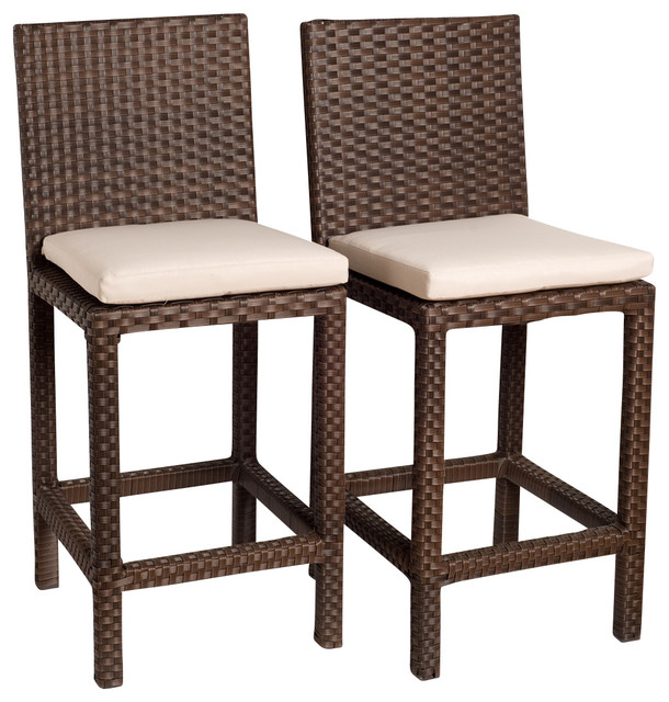 Monza Barstools Set 2 Piece Contemporary Outdoor Bar Stools And Counter S