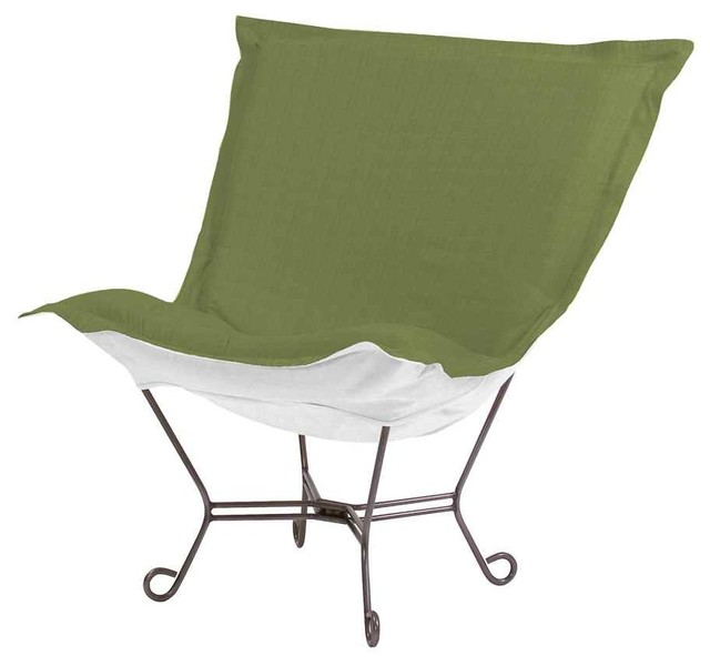 Scroll Puff Chair In Yellow Green Contemporary Outdoor Lounge Chairs By