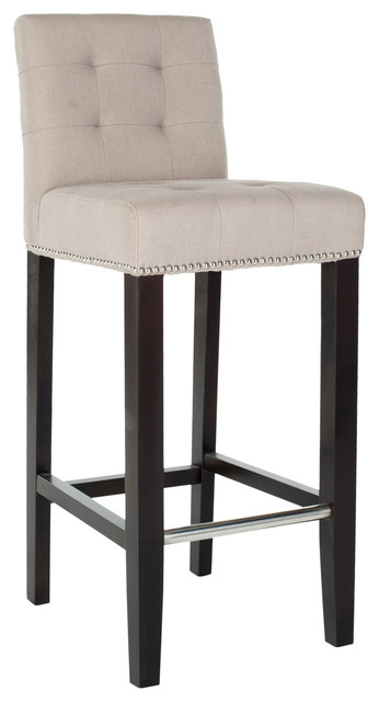 Safavieh Thompson Barstool Taupe Transitional Bar