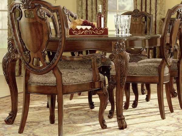 ART Furniture Old World Leg Dining Table ART 143220 2606 Traditional