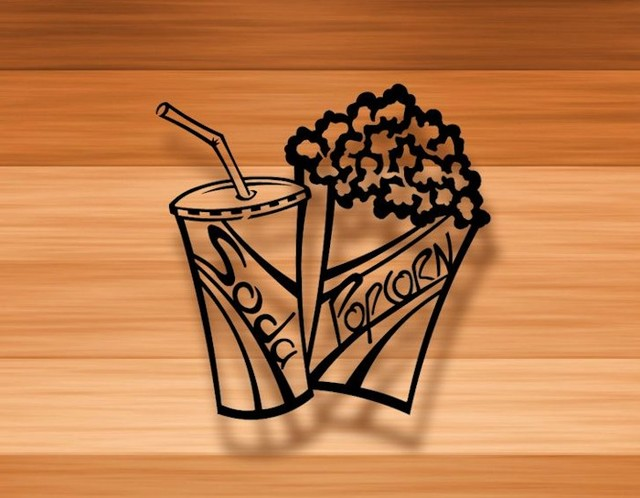 Popcorn and Soda - Home Decor - 3D Metal Wall Art - Contemporary - Metal Wall Art - by Backer ...
