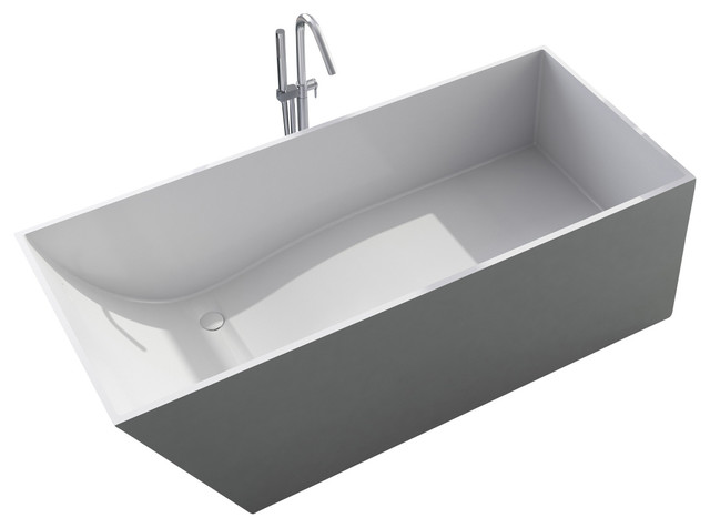Stand Alone Bathtubs : White Stand Alone Resin Bathtub - Contemporary - Bathtubs - by ADM ...