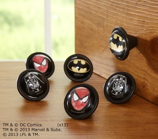 Star Wars and Super Hero Knobs, Sets of 2 - Eclectic - Cabinet And Drawer Knobs - by Pottery ...
