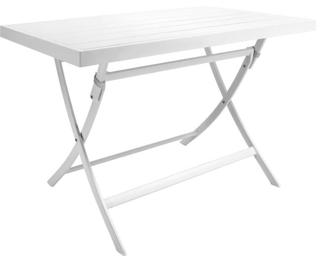 Table de jardin blanche habitat des id es int ressantes pour la conception de - Ikea table jardin aluminium saint etienne ...