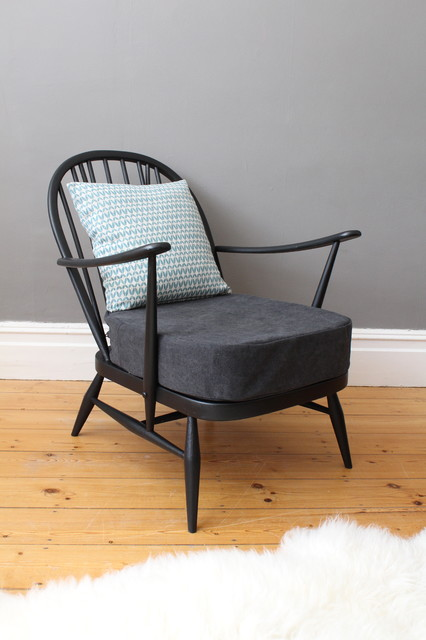 Vintage Ercol Windsor Easy Chair Midcentury Armchairs Accent Chairs