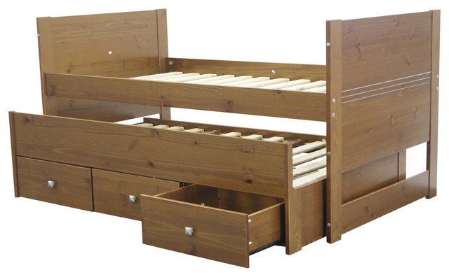 Bedz king captains bed twin expresso quality bunk beds for Good quality divan beds