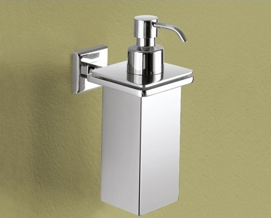 Wall Mounted Square Polished Chrome Soap Dispenser