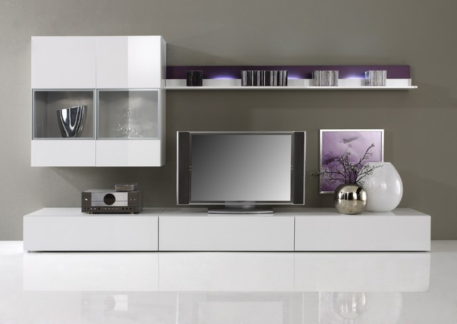 Modern wall unit tv media entertainment center jetset 306 for Living mobili soggiorno