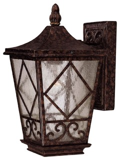Savoy House Felicity Wall Mount Lantern - Traditional - Outdoor Wall Lights And Sconces - Orange ...