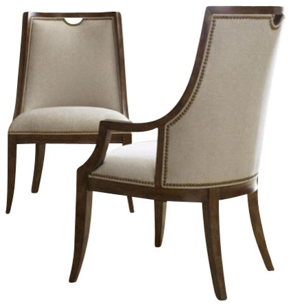 Sunset canyon upholstered chair contemporary dining for Contemporary dining room chairs with arms