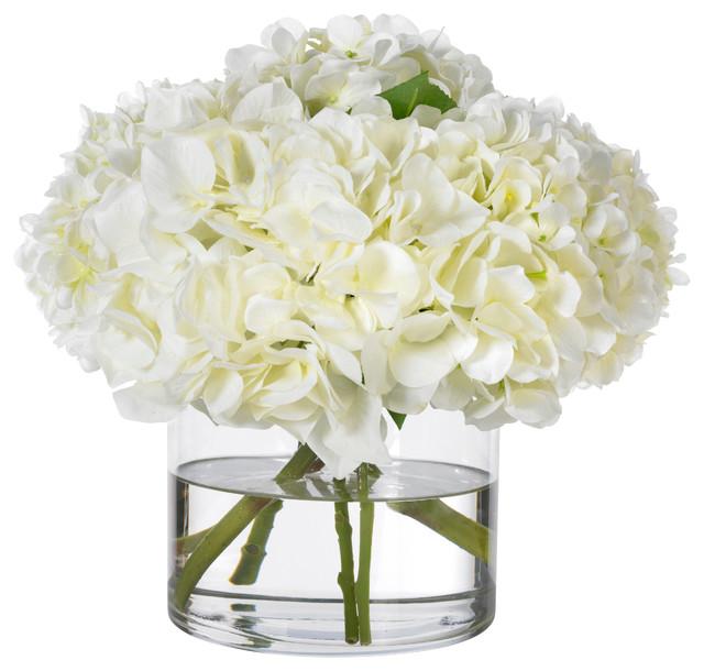 Diane james heavenly white hydrangeas transitional