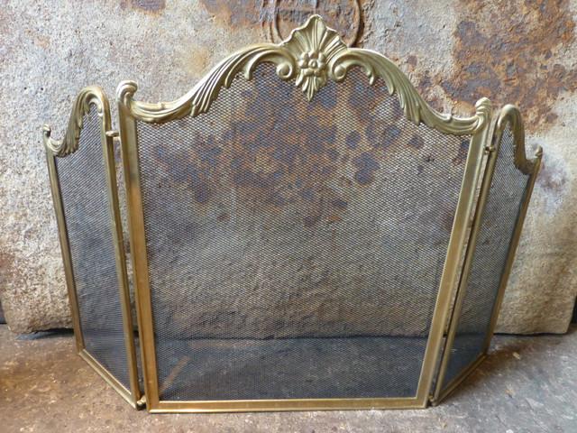 ... antique br fireplace screen best antique 2017 ... - Pea Fireplace Screen - Fireplace Ideas