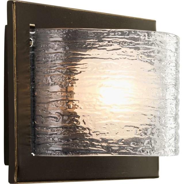 Progress Lighting P2842 20WB Reign 1 Light Bathroom Light In Antique Bronze