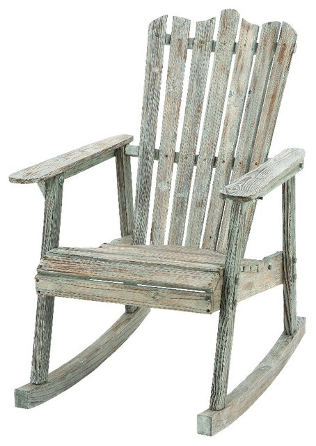 Old fashioned rocking chair wood weathered home patio - Old fashioned patio furniture ...