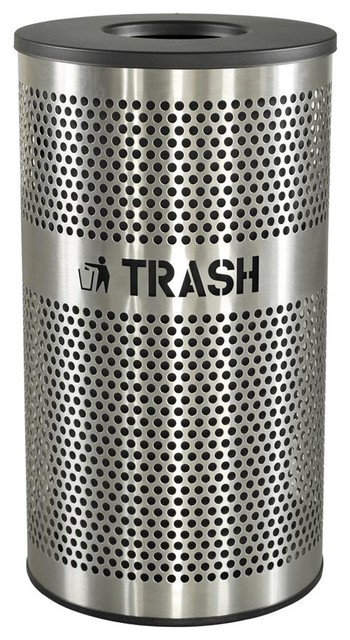 Venue Stainless Steel Trash Receptacle Contemporary