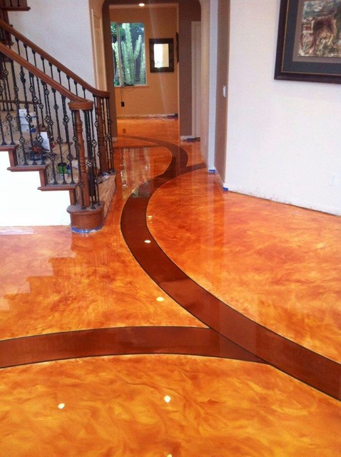 Residential decorative concrete flooring for Residential concrete floors
