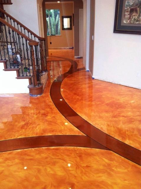 residential decorative concrete flooring