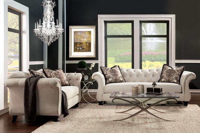Glam Amp Glitz Furniture Of America Erith Collection Luxe