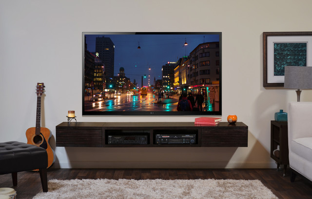 Wall Mounted TV Stand - Mayan Espresso - Mediterranean - Entertainment Centers And Tv Stands ...