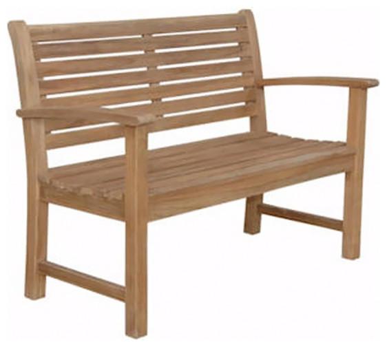 Anderson Teak Patio Lawn Garden Furniture Victoria 48 2 Seater Bench Contemporary Outdoor