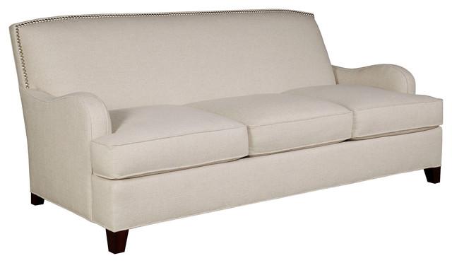 Sydney 84 Linen Sofa Beige Contemporary Sofas