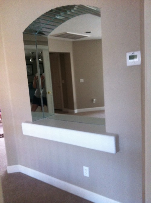 What to do with mirrored wall