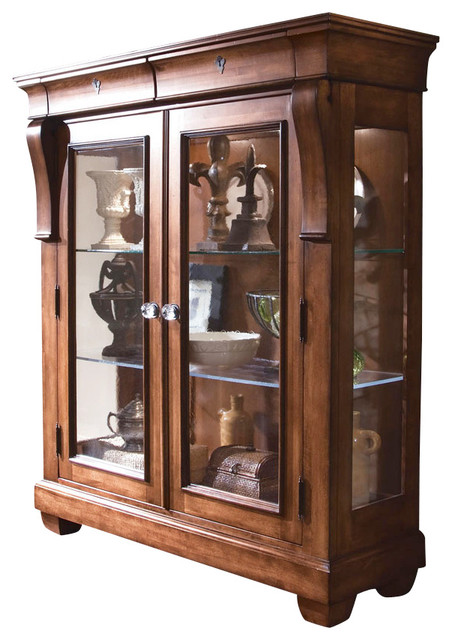 Kincaid Tuscano Solid Wood Display Cabinet - Traditional - China Cabinets And Hutches - by ...