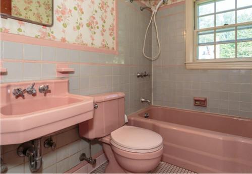 1950 s pink bathroom challenge